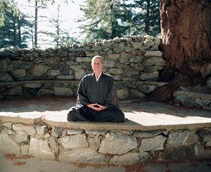 At the Mount Baldy Zen Center, east of Los Angeles, in 1995, by Neal Preston