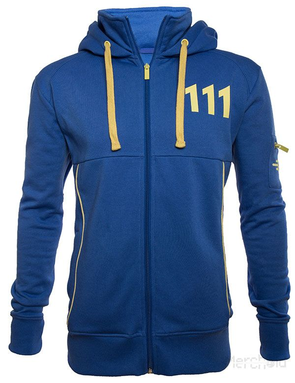 "Officially-licensed Fallout 4 merchandise Straight from Vault 111 – to keep you warm in the midst of cold, hard reality Two pockets for warming your hands, and a hood for warming your head Vault-Tec logo on left sleeve with zippered pocket and ""111"" on the back Don't worry. Just because there are no other survivors …"