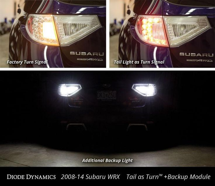 Tail as Turn +Backup Module 2008-2014 WRX Hatchback + LED Backup kit