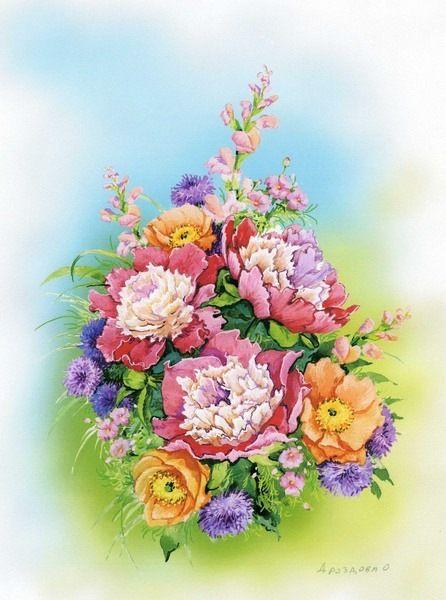 Gallery.ru / Фото #12 - Акварельные цветы Ольги Дроздовой - Mislana