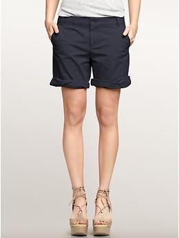 Navy boyfriend shorts