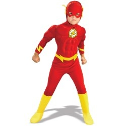 The Flash Costume For kids With Muscle Chestpiece