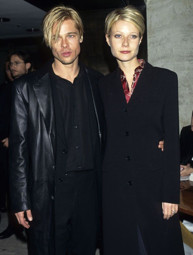 Ces couples de stars avec la meme coupe de cheveux - Brad Pitt et Gwyneth Paltrow