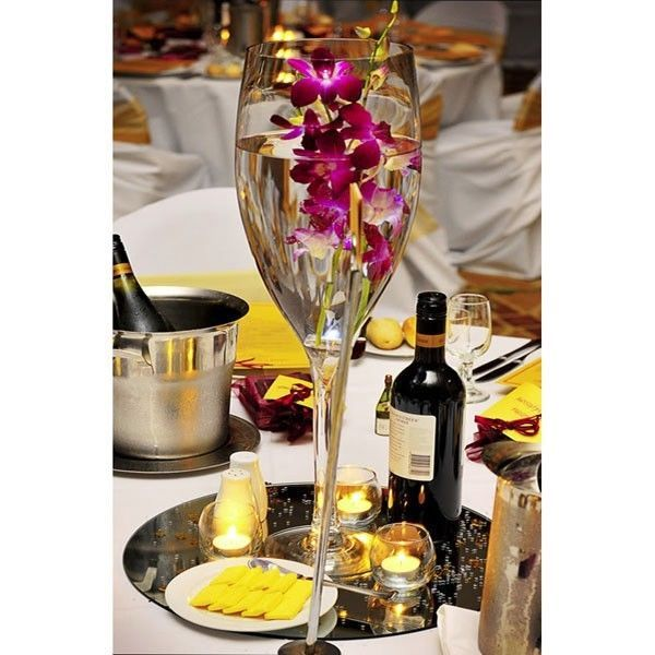 Tall Giant Wine Champagne Glass Vase Wedding Centerpiece 57g