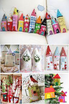 Уютные текстильные домики. Подборка идей+выкройки / Аппликация из ткани, Декор, Шитьё / В рукоделии
