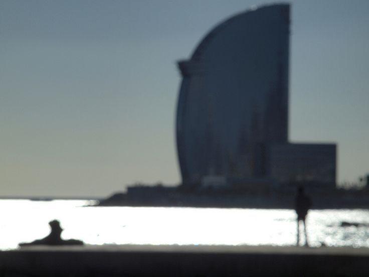 The W Barcelona from a breakwater [shared]