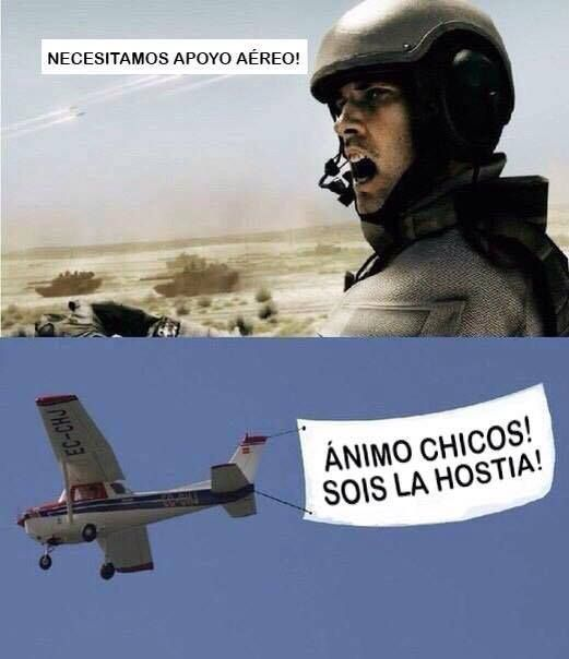 Memes graciosos: Apoyo aéreo → #memesdivertidos #memesenespañol…