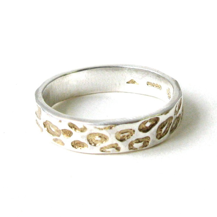 Thin Leopard Ring With Gold Detail by JewelrybySteveRiley on Etsy