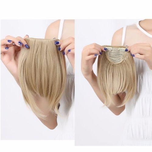 Эш-русый природный настоящее взрыва бахрома клип в наращивание волос передние челка прямо оптовая продажа наращивание волос кусок Ladys
