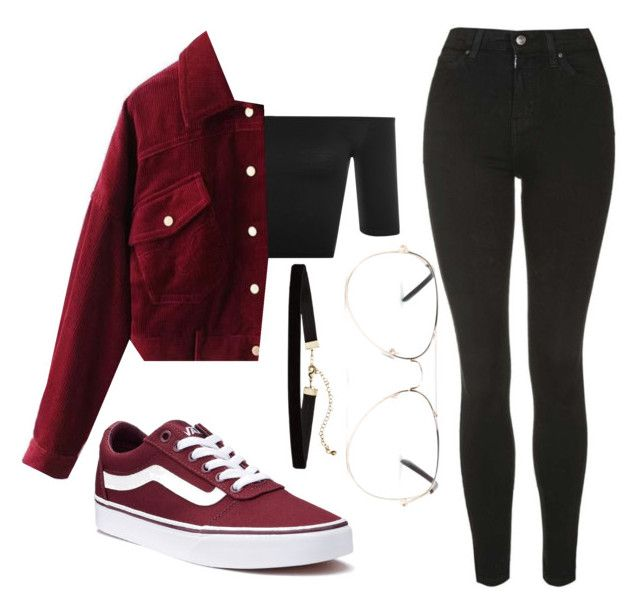 """Burgundy..."" by liaperezmorales on Polyvore featuring WearAll, Topshop, Vans and Armitage Avenue"