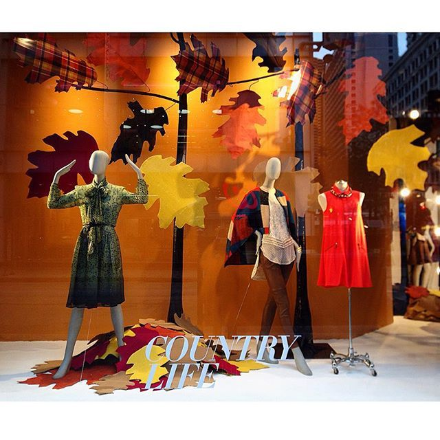"""MACY'S,N State Street, Chicago,Illinois,USA, """"Country Life.....Arrival of Autumn"""",photo by Sylvia Q,  pinned by Ton van der Veer"""