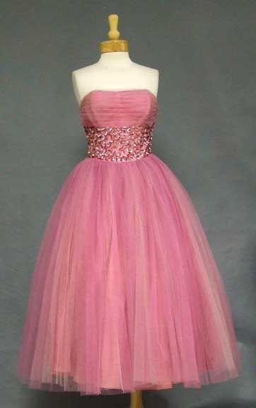 vintage pinkVintage Prom Dresses, Pink Dresses, Pink Vintage, Parties Dresses, Vintage Pink, 1950S Party Dresses, Chiffon Prom Dresses, Vintage Rose, Pink Parties