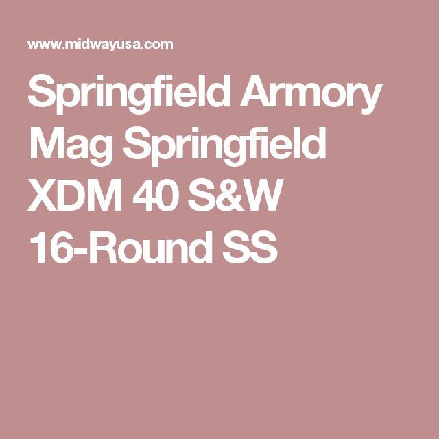 Springfield Armory Mag Springfield XDM 40 S&W 16-Round SS