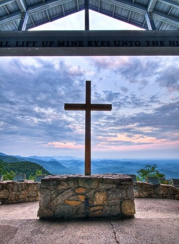 Fred W. Symmes Chapel on the NC/SC border in the Blue Ridge Mtns.