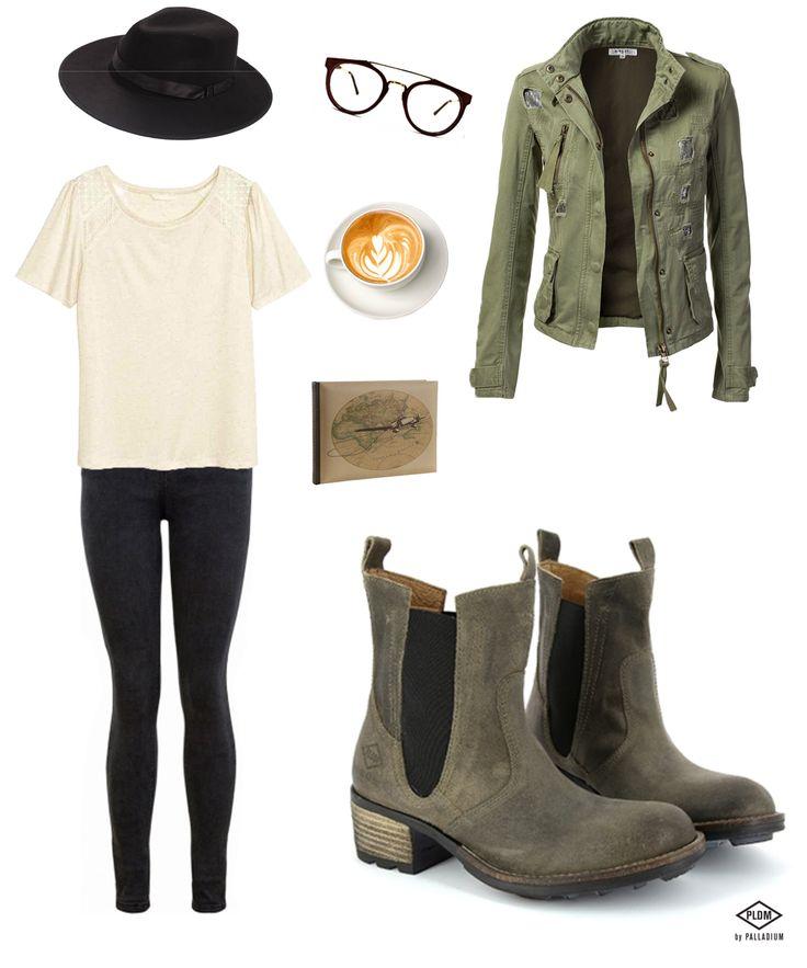 Un jour de mars : un jean noir, un teeshirt crème, des accessoires et nos CRESTVIEW. Être belle en PLDM, c'est simple ! #outfit #ootd