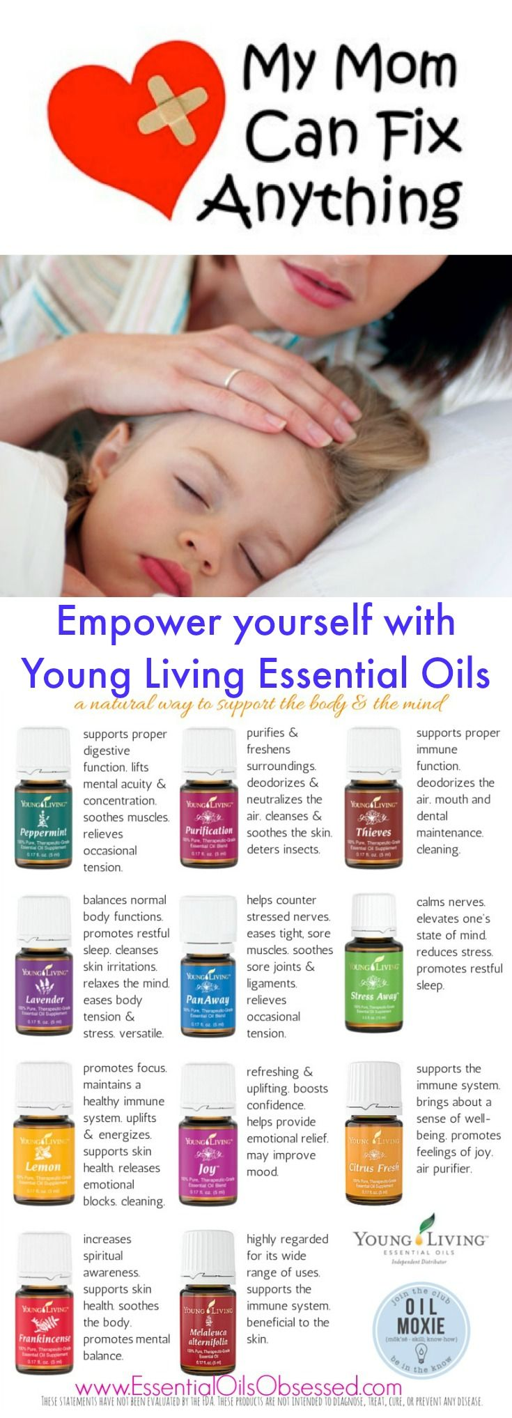 Moms one of the best decisions I ever made was purchasing my Premium Starter Kit with Young Living. It can be very overwhelming at first to know which essential oil to use and how to apply it. That's why I give you the resources you need!         A FREE reference guide, online support and MORE to help you be a confident Mom when using essential oils for yourself and your family.
