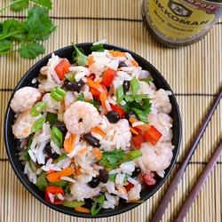 Light, fresh, and vibrant - Shrimp and Jasmine Rice Salad