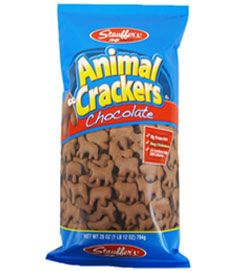 Chocolate animal crackers.