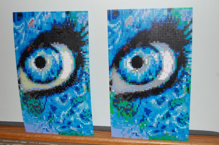 Whauuu.... Wish they were my creations..... flame eye perler bead art made by me - amanda wasend