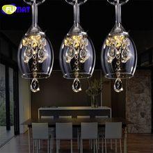US $96.90 FUMAT K9 Crystal LED Wineglass Chandelier Modern Creative Spiral Suspension Lighting Restaurant Villa Lobby Hanging luminaire. Aliexpress product