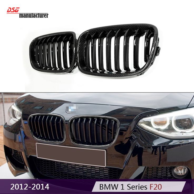 replacement F20 carbon fiber black racing grill in M135i design for BMW 1 Series F21 2012 2014 1180 120i 125i car styling part