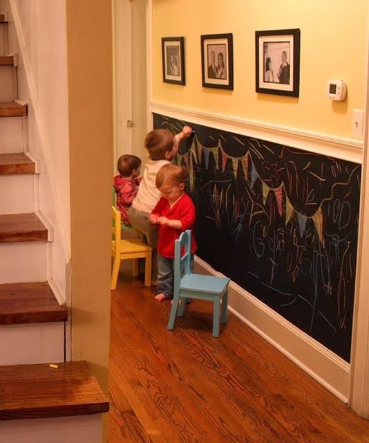 Home Decor Ideas: What a great idea to keep the kids busy! in the Basement?!