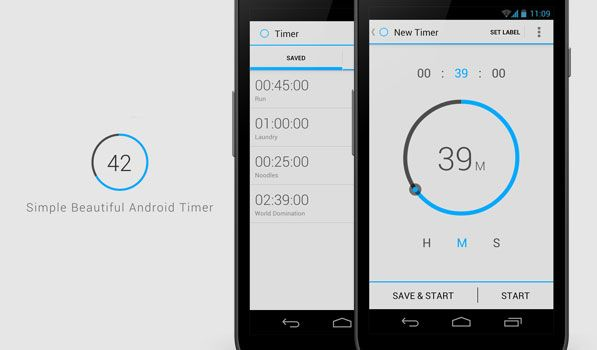 Opoloo have designed something special with Timer. It is minimal and beautiful. The app is simple and it has a tablet specific UI as well which is always an added bonus for an Android app.