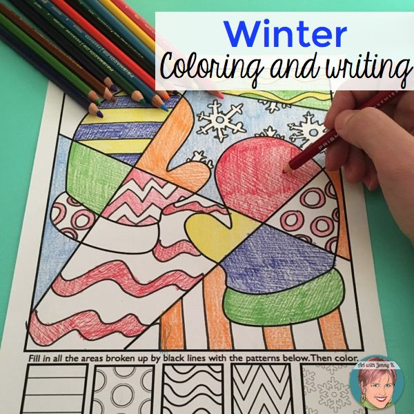 Winter themed coloring sheets for kids. Interactive designs that allow students to think like an artist and design a one-of-a kind piece of work. Included images: winter mitten coloring, snowflake, snowman, girl ice skater and boy ice skater.