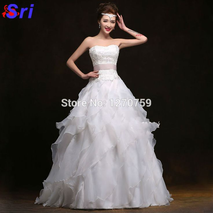 Find More Dresses Information about Strapless Wedding Dresses New Ruffles Bridal Gown Lace Up Chapel Train Chiffon Wedding Dress Long Robe Mariage 2015,High Quality dress tennis,China dresses ball Suppliers, Cheap gowns formal dresses from Sritrade International Co., Ltd on Aliexpress.com