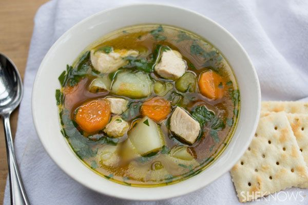 Quick chicken and potato soup | Healthy Parenting | Pinterest