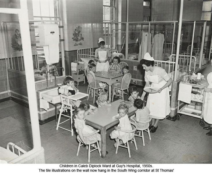 Children In Caleb Diplock Ward At Guy S Hospital 1950s