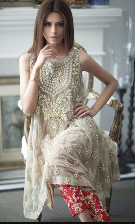 Pakistani Dress : Designer Mina Hasan Inspired by KaamdaniCouture
