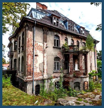 Abandoned mansion in Gdansk, Poland.