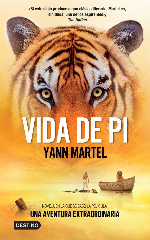 """La vida de Pi es una novela de aventuras escrita por el canadiense Yann Martel. En la historia, el protagonista Piscine """"Pi"""" Molitor Patel, un joven de la India, de Pondicherry, indaga sobre la religión, espiritualidad y lo factible desde una edad temprana, y sobrevive 227 días en un bote junto con un Tigre de Bengala después del naufragio de su barco en el Océano Pacífico."""
