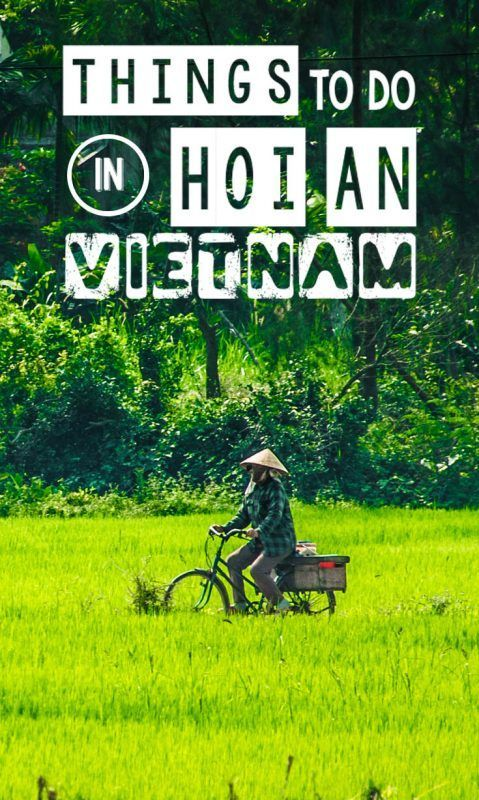 """Escape the chaos of Ho Chi Minh or Hanoi and head south to Hoi An Vietnam. Hoi An is English translates to """"peaceful meeting place"""" and I'd have to agree with that. Hoi An is an oasis in Vietnam and our personal favorite city in Vietnam. I'd suggest at least two nights in Hoi an, or many more if your time allows. When you visit this beautiful city, here are the top things to do in Hoi An Vietnam.:"""