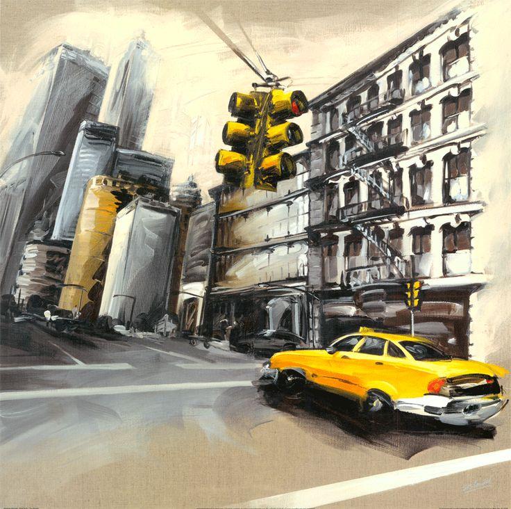 New York Feu Rouge I by Sandrine Blondel
