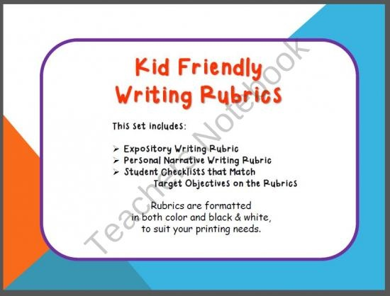 kid friendly writing rubric When building a rubric for a writing assignment, consider building it with your students often teachers make a rubric and then.