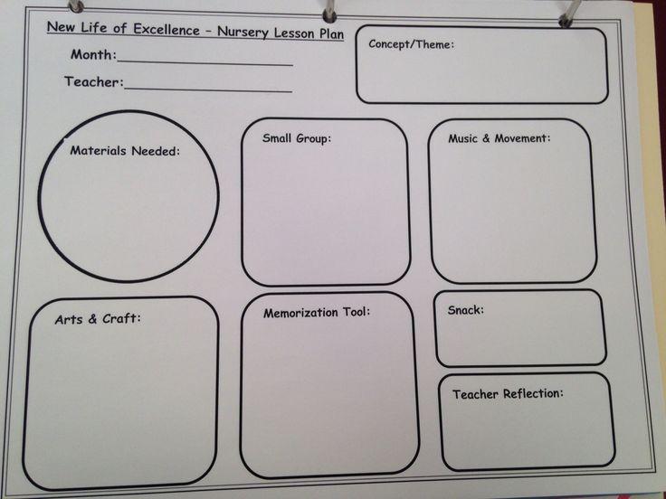 lesson plan template preschool