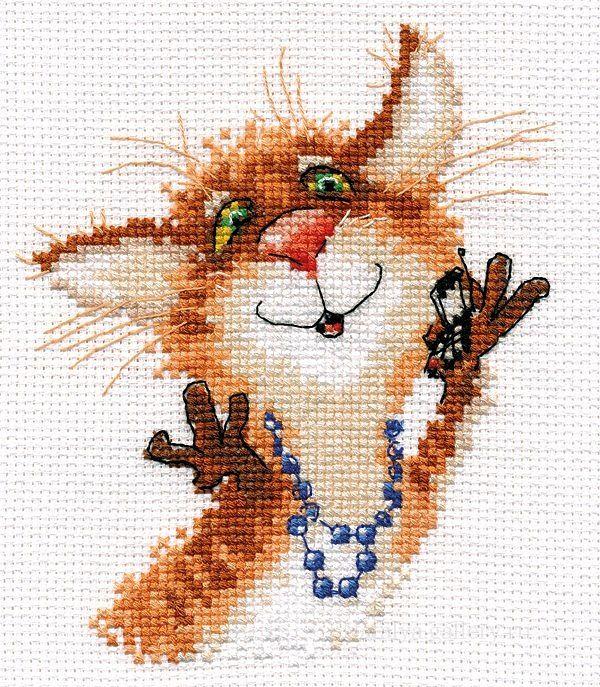 cross stitch, cat