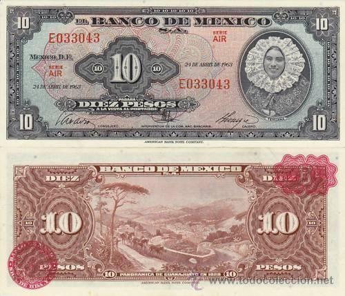 MEXICO - 10 PESOS -  1963
