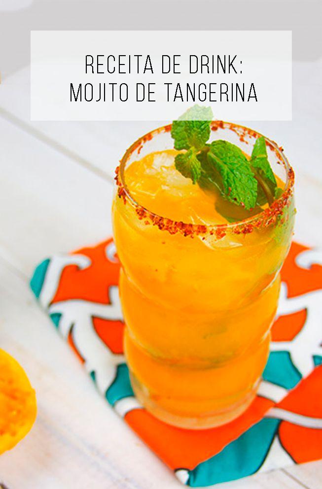 Como fazer drink de tangerina: mojito de tangerina! // Receita fácil e diferente de mojito de tangerina // palavras-chave: festa, ideia, decoração, faça você mesmo, diy, receita, drinks, cozinha, mesa de festa, toalha, centro de mesa,