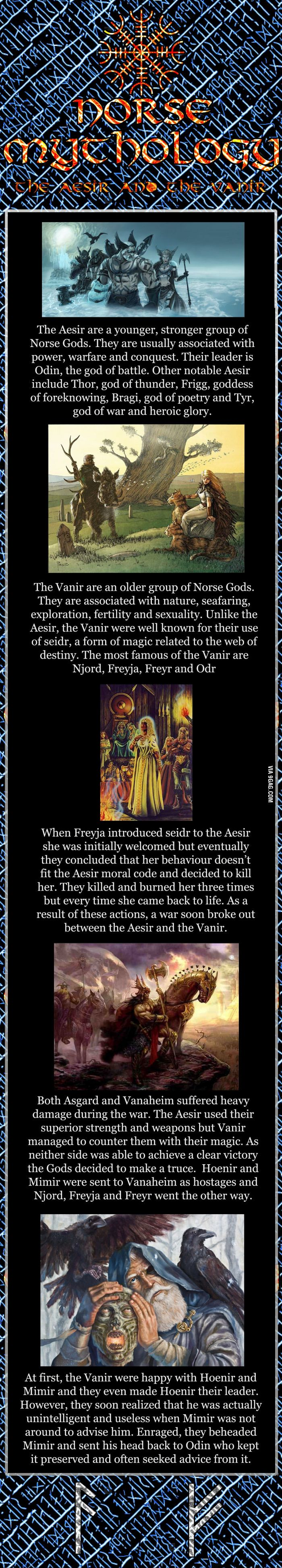 Norse mythology series - The Aesir and the Vanir