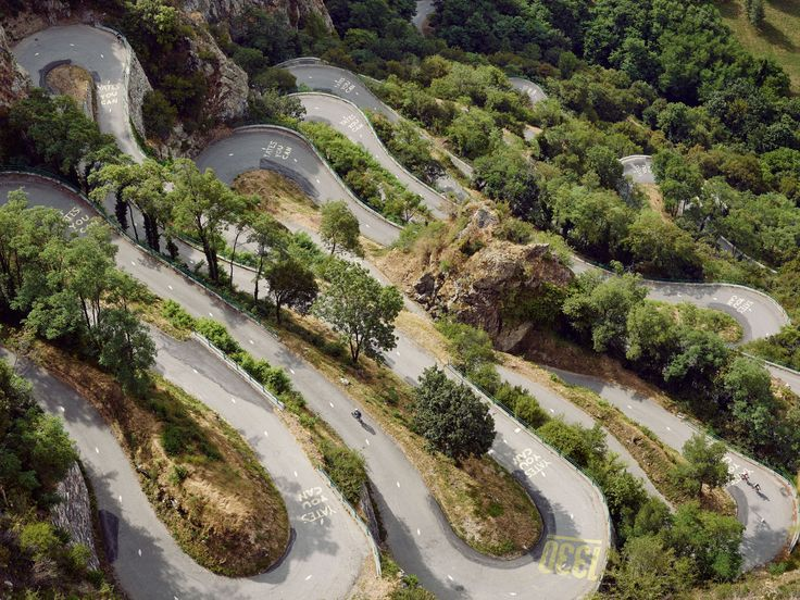 Lacets de Montvernier, sometimes described as an Alpine Scalextric. The climb has 18 hairpins that switch back every 150m © Michael Blann
