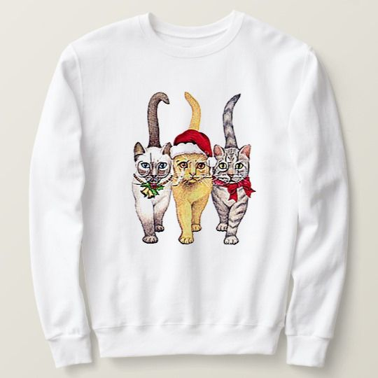Cats Christmas Custom Sweatshirts