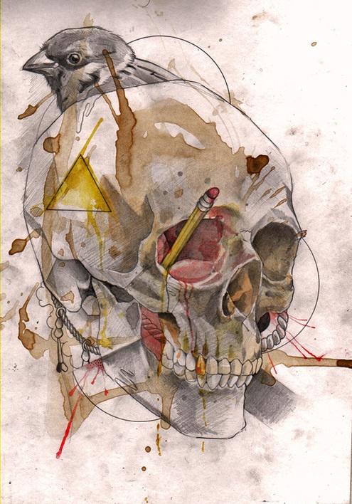 * watercolor illustration