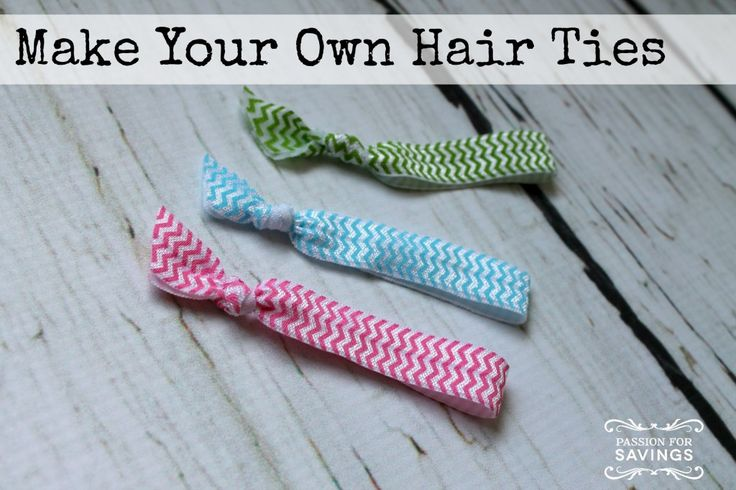 Find out how easy it is to make your own hair ties! Super cute!