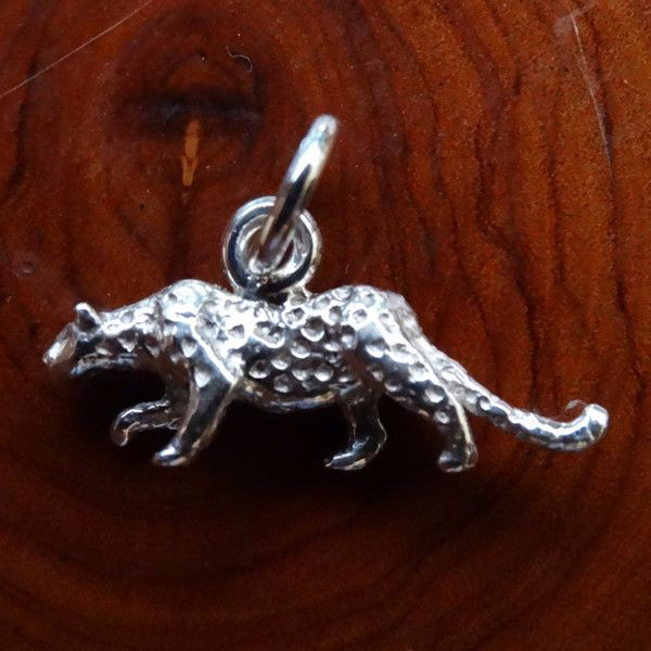 Leopard Full Body Charm. In Sterling Silver or Gold- GoodiesHub.com