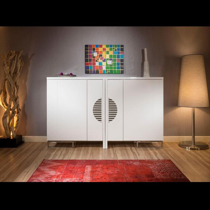 Modern Extra Large Cabinet / Bookcase Combination in White Gloss