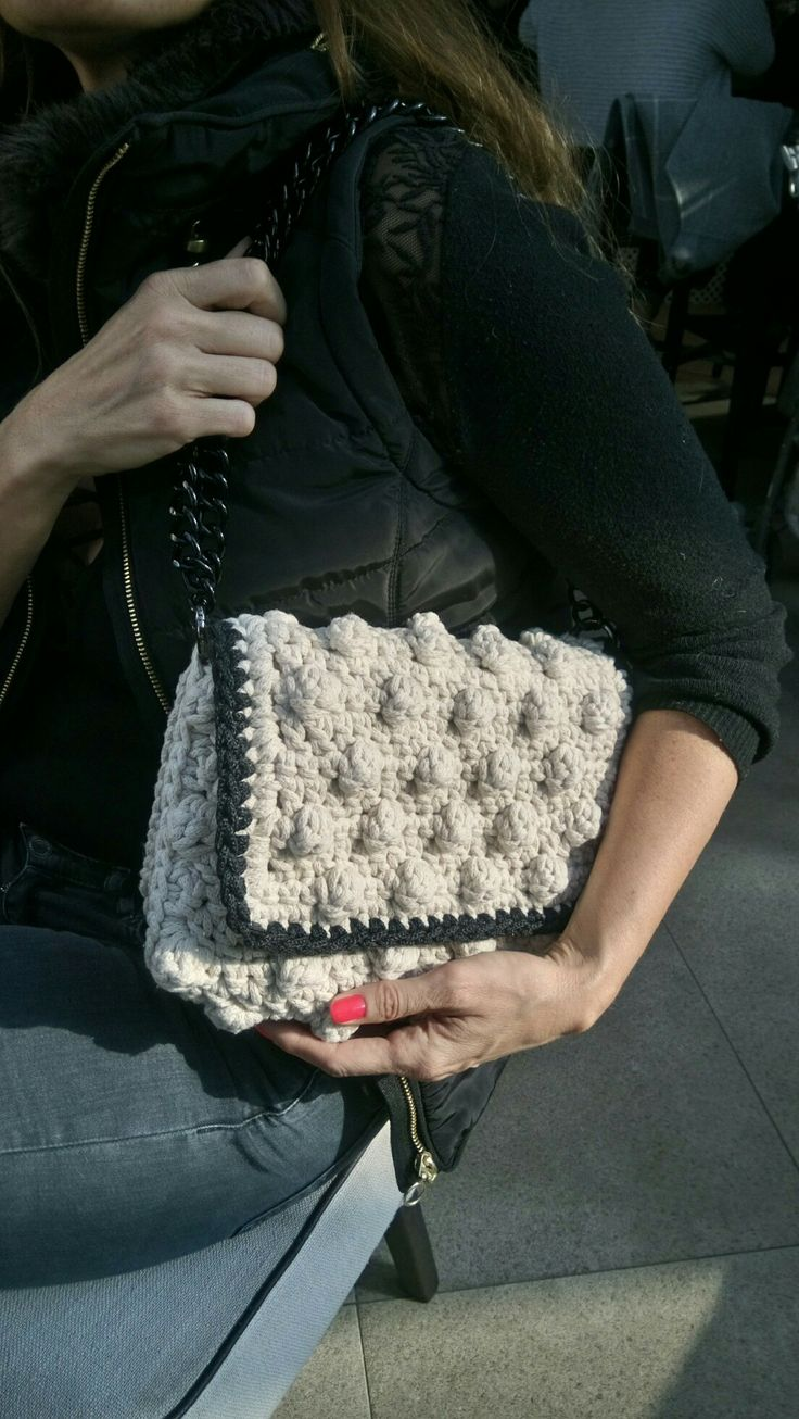 Crochet bubble bag