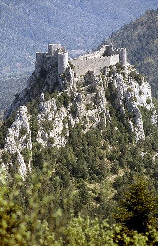 château cathare de Puilaurens. Aude